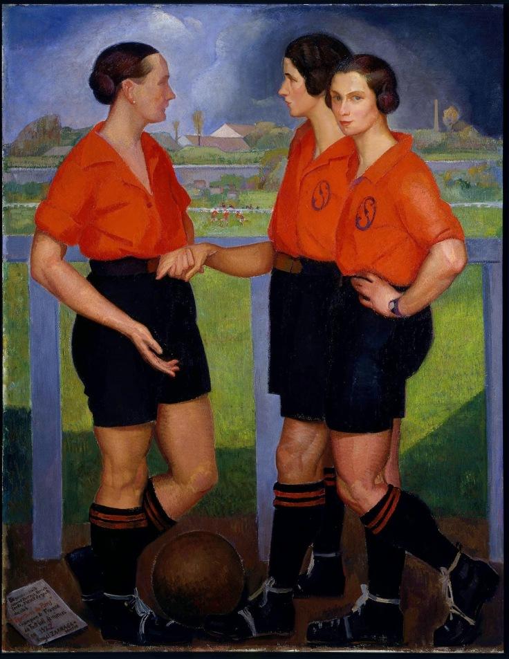 Ángel Zárraga, Las futbolistas, 1922, óleo sobre tela, Museo de Arte Moderno, INBA