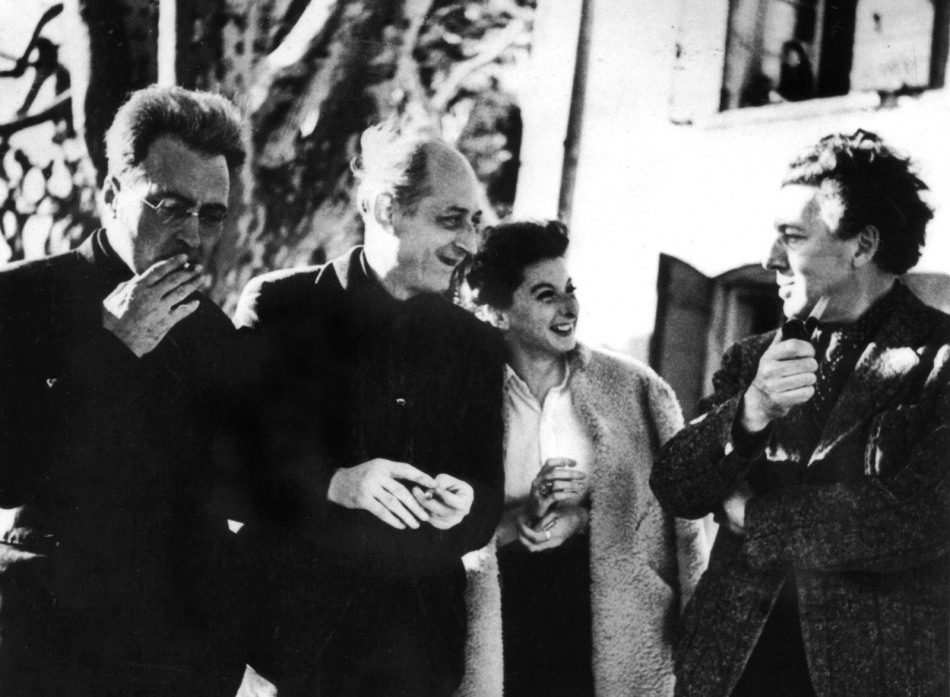 André Breton, Victor Serge, Benjamin Péret and his wife